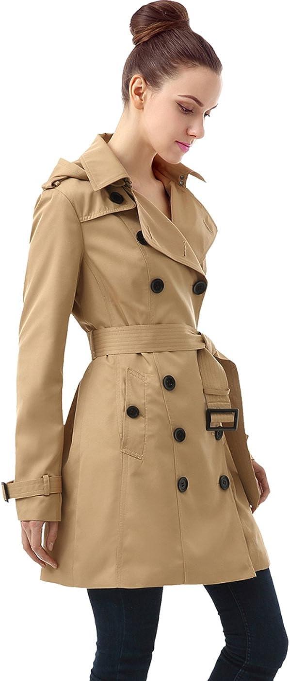 BGSD Women Leah Waterproof Hooded Mid Trench Length latest Coat Portland Mall