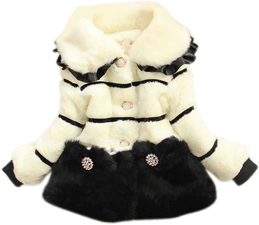 Aivtalk Baby Girls New products world's highest quality Selling and selling popular Princess Faux Fur Jacket Coat 3 Padded Thick