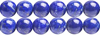 AAA Genuine Undyed Natural Blue Lapis Lazuli Healing Gemstone Round 6mm Beads for DIY Necklace Bracelet Earrings Making One Strand 15 inch APX 60 Pcs