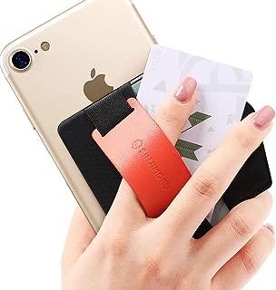 Sinjimoru Phone Grip Card Holder with Phone Stand. Sinji Pouch B-Grip Orange Sinji Pouch B-Grip