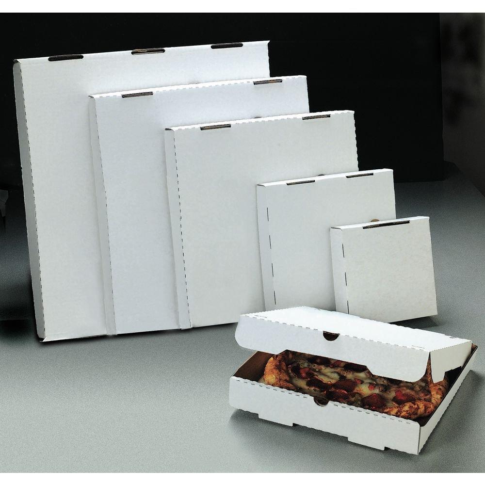 White Corrugated Pizza Boxes - 10