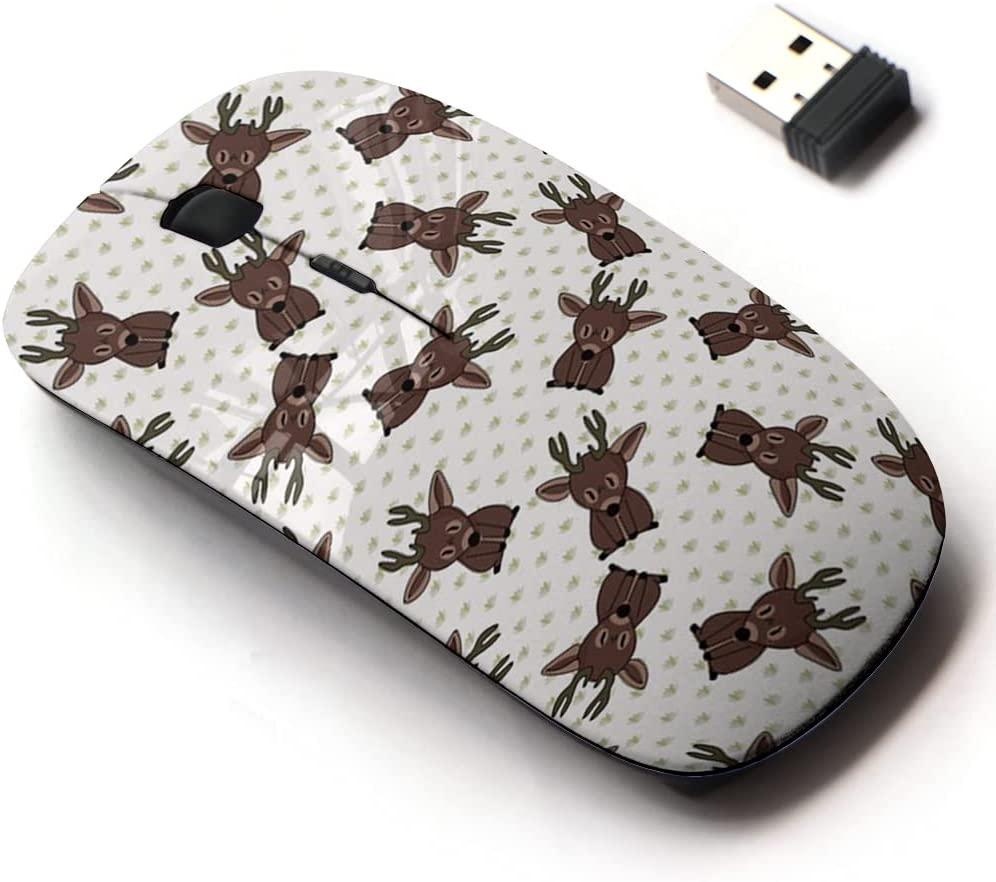 2.4G Wireless Mouse with 55% OFF Cute Pattern and Laptops for All ...