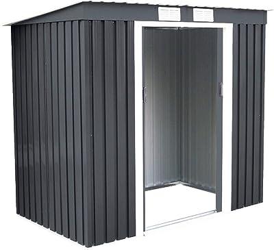 Amazon com : Outsunny 9' x 4' Outdoor Metal Garden Storage