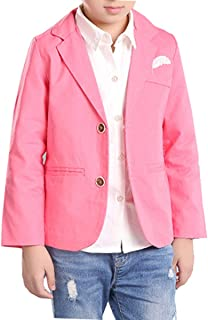 Qinni-shop Boys Pink Blue Wedding Gentleman Formal Blazer Dress Suit Jacket