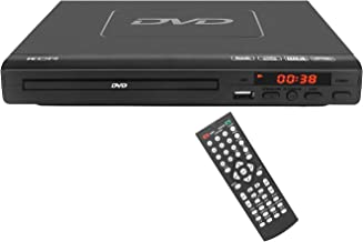 225mm DVD Player,Compatible with CD/DVD/MP3 Disc Player with Remote Control,USB Port Support HDMI Output(blueray disc not Support) Black