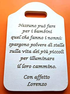 FESTA DEI NONNI Idea Regalo originale compleanno Tagliere decorativo con frase personalizzata Accessorio cucina Decorazion...