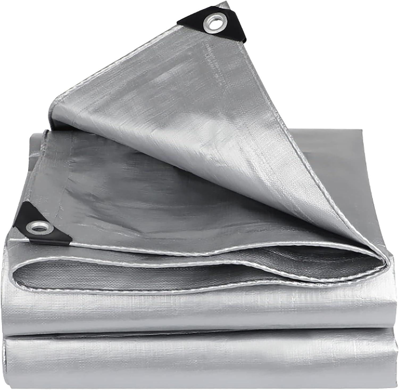 Max 87% OFF 67% OFF of fixed price WYBB Tarp Silver Heavy Duty HDPE Rever Tarpaulin Polyethylene