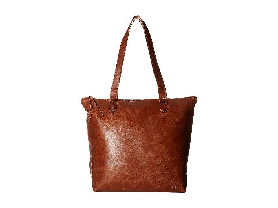 ABLE Chaltu Top Zip Tote (Chestnut) Tote Handbags