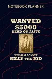 Notebook Planner OutLaw Billy The Kid: To Do List, Over 100 Pages, Home Budget, Financial, Journal, 6x9 inch, Passion, Pla...