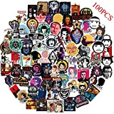 100PCS Stranger Things Stickers for Hydro Flask Water Bottles,Movie Decals for Laptop,Notebooks,Snowboard,Luggage,Bicycle,Skateboard,DIY Graffiti Stickers for Game Party Favor