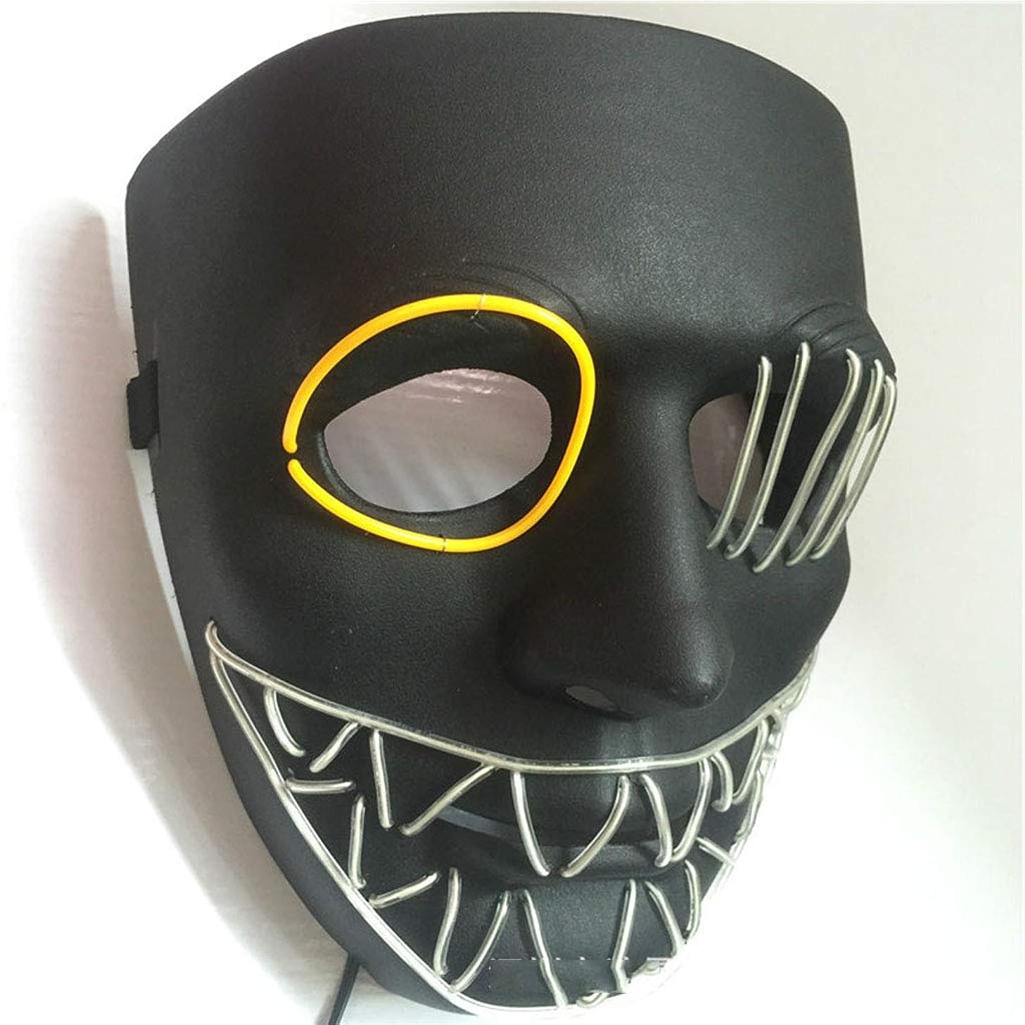 グリーンバック日付倉庫ハロウィングローイングクリーピーマスク、コスプレマスク
