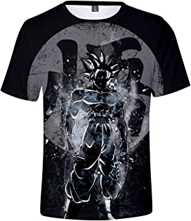 Bettydom Novelty T-Shirts 3D Printing Tee Tops with Dragon Ball for Men Women