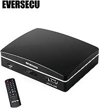 Eversecu 4ch Mini CCTV Video Recorder, 1080P Lite Hybrid DVR Support 1080P AHD/HD-TVI/HD-CVI/CVBS Cameras Real time CCTV Hybrid DVR NVR Support TF Card, E-Sata HDD, Support Remote View CCTV DVR