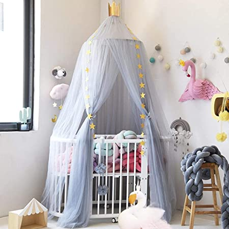 UltraGood Cotton Baby Bed Decoration High 240cm Bed Canopy for children