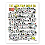 100th Birthday Decorations for Men or Women // 100th Birthday gift Poster - Road to 100 Year Old for Him or Her // Table Decor // Party Decoration // Birthday sign