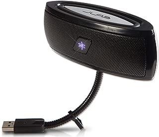 JLab USB Laptop Speakers - Portable, Compact, Travel Notebook Speaker for Windows PC and Mac - B-Flex X-Bass Hi-Fi Stereo USB Laptop Speaker - Black