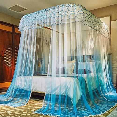 Moustiquaire Baldaquin Ciel de Lit- Moustiquaire de luxe guide rideau moustiquaire, 180 * 220 + vert
