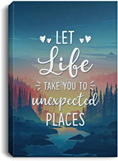 Let Life Take You To Unexpected Places Framed Canvas Prints - Unframed Poster - Home Decor Wall Art, 8