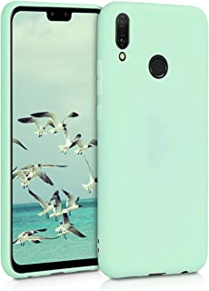 kwmobile TPU Silicone Case for Huawei Y9 (2019) - Soft Flexible Shock Absorbent Protective Phone Cover - Mint Matte