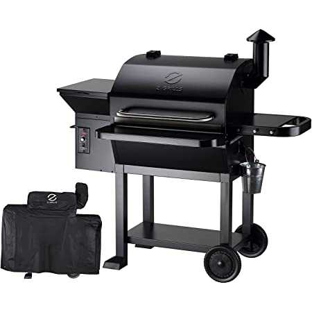 Z GRILLS 2021 Upgrade Wood Pellets Grill 1000 SQ IN 20LB Hopper 8-in-1 Outdoor Smoker Grill (ZPG-10002B) Free Cover