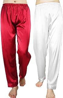Wantschun Womens Satin Silk Sleepwear Long Pajamas Pants Nightwear Loungewear Pj Bottoms Trousers XXS-XXXL