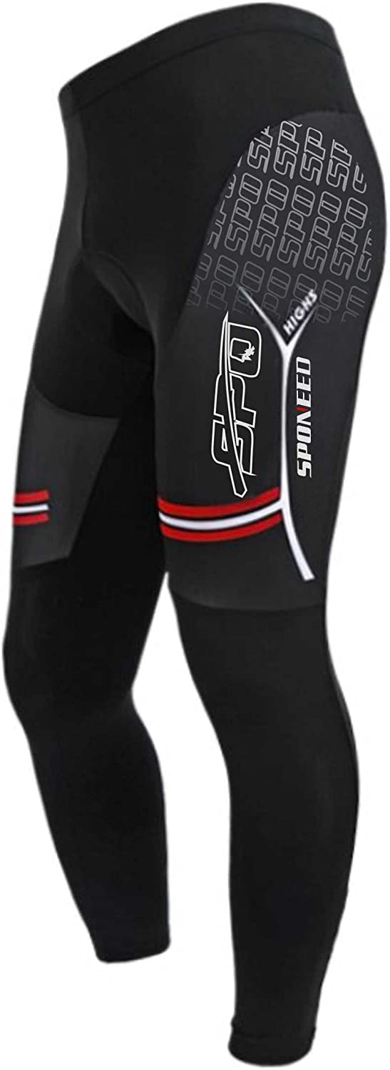 sponeed Cycling Tights Bike Pants Alternative dealer Men Padded Breathable Very popular! for