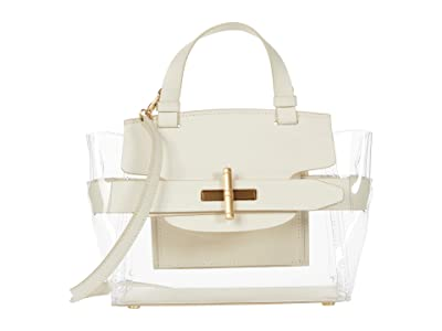 ZAC Zac Posen Brigitte Belted Satchel Glass (Swan) Handbags