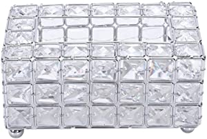 ZXY-NAN Crystal Tissue Box Simple Home Living Room Coffee Table Drawers Desktop Napkin Storage Box Silver Storage Chests Furniture