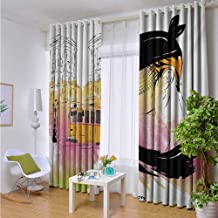 Window Treatment Panels for Living Room Bedroom Kitchen Draperies 1 Pair of 2 Panels 108