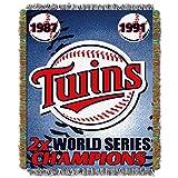 NORTHWEST MLB Minnesota Twins Woven Tapestry Throw Blanket, 48' x 60', Commemorative