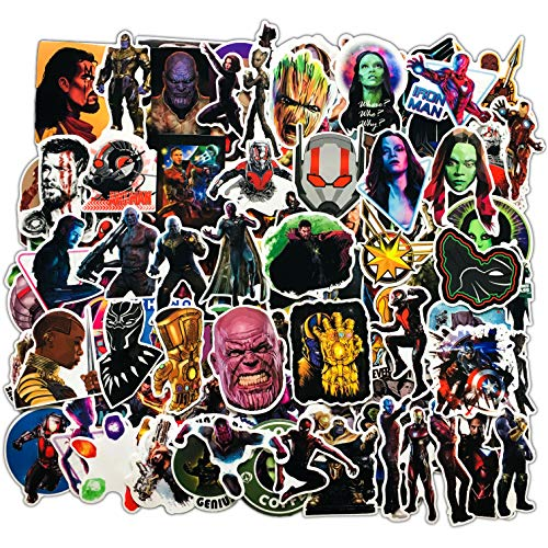 YZFCL Anime movie Avengers doodle sticker refrigerator lever box notebook helmet car sticker 100pcs