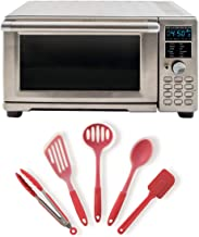 NuWave Bravo XL Air Fryer/Toaster Oven Bundle With 5 Pc. Nuwave Silicone Utensil Set (Red) (2 Items)