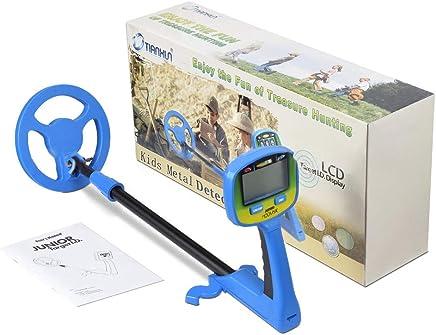 Detector de Metales Encuentra Monedas, Artefactos, Tesoros, Detector de Metales LCD fácil de Usar para Niños y Principiantes Kid Regalo de Juguete