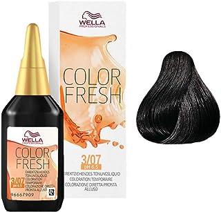 Wella Colour Fresh Semi-Permanent Hair Colour, No. 3/07 Dark Natural Brunette Brown, 0.098 kg