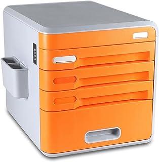 Armoires Bureau Fichier avec Mot de Passe Serrure 4 Couches Mode ABS en Plastique Tiroir Type Données Bureau Boîte De Rang...