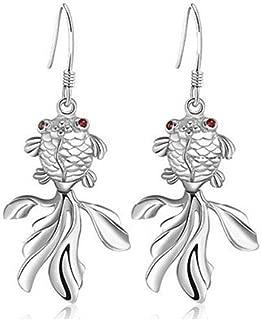 blue fish earrings