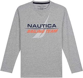 Nautica 诺帝卡男童长袖?#21450;?T 恤