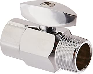 DANCO Shower Volume Control Shut-Off Valve, Chrome, 1.6 inch, 1-Pack (89171)