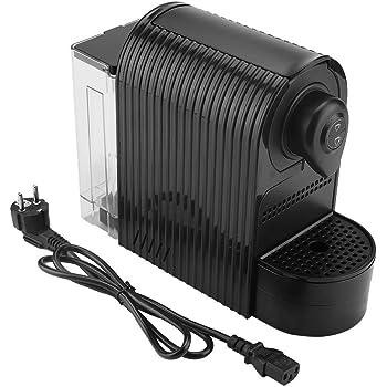 Zouminyy Cafetera, Máquina de café en cápsulas Máquina de café espresso para bebidas calientes Espumador de leche(EU Plug-Negro): Amazon.es: Hogar