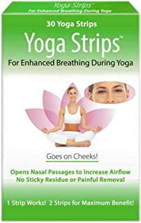 STUFFY NOSE SOLUTIONS Yoga Strips 30 ea Goes on Cheeks For Enhanced Breathing During Yoga | Opens Nasal Passages to Increa...