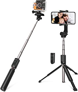 Selfie Stick Tripod, BlitzWolf 35 inch Extendable Bluetooth Selfie Stick with Wireless Remote for Gopro iPhone Xs Max/XR/X...
