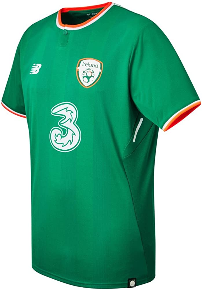 New Balance Men's Offical FAI Merchandise Ireland Home 2017/2018 Short Sleeve Jersey