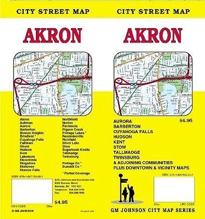 Akron City Street Map by GM Johnson & Associates Ltd. (2008-01-01)
