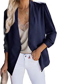neveraway Women Open Front Cardigan Outwear Jacket Casual Small Blazer