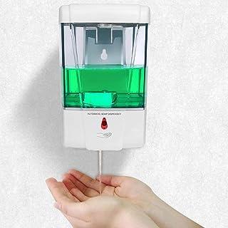 Distributeur Savon Mural,700ML Distributeur de Savon Automatique à Capteur Infrarouge Mural,Distributeur Gel Hydroalcooliq...