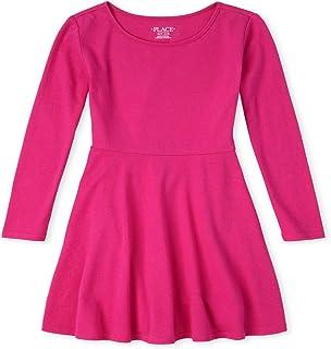 فستان كاجوال للفتيات بأكمام طويلة بطيات من ذا كيدز بليس
