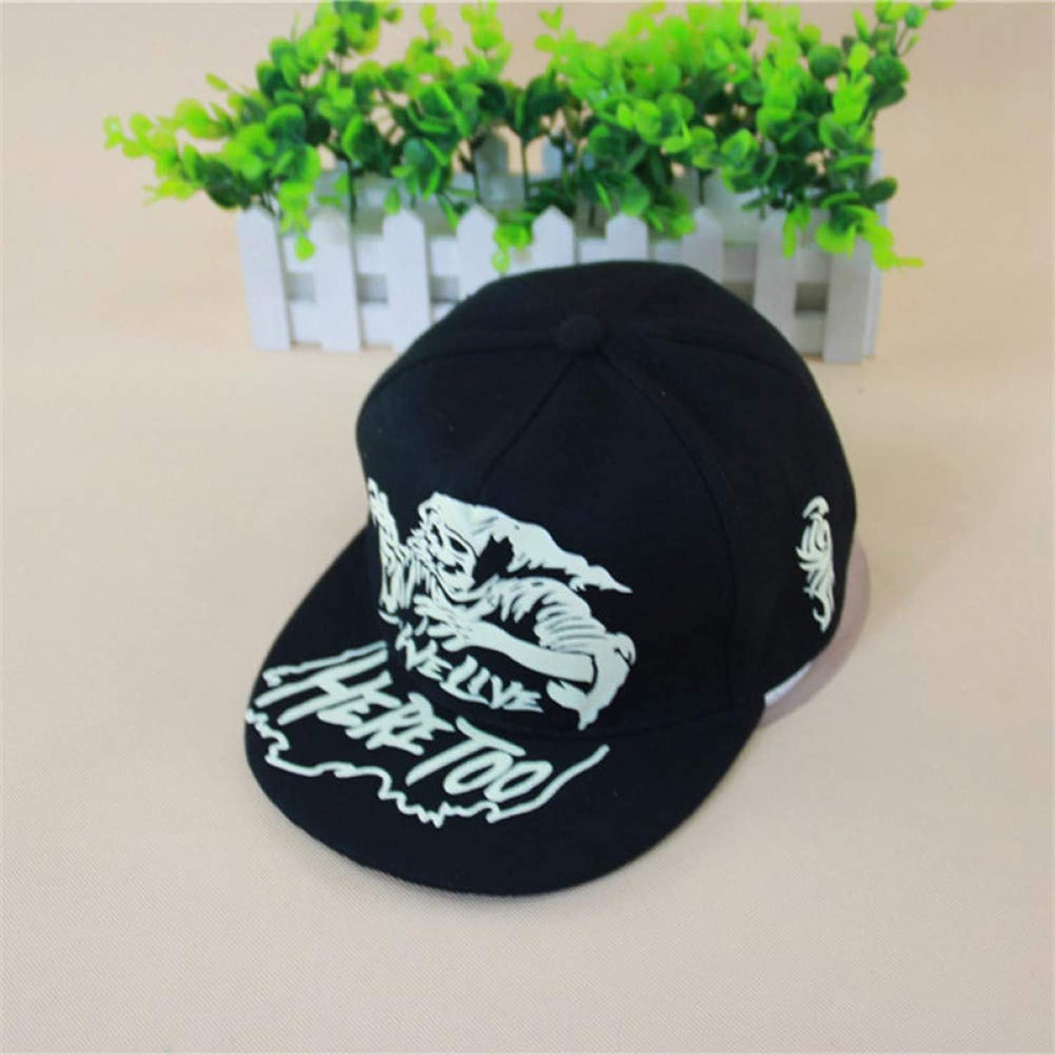 WYKDA Cotton Black Wolf Hat Hip Hop Fluorescence Wolf Head Baseball Cap for Men Women Raiders Snapback Gorras Sun Hat Bones