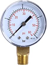 Awakingdemi Water Pressure Gauge, Stainless Air Pressure Gauge, Pool Spa Filter Water Pressure Gauge for Reverse Osmosis System