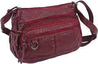SEVENHOPE Damska torba crossbody Pocketbooki miękkie torebki ze skóry PU torba na ramię torba kurierska