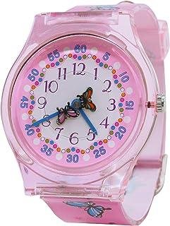 Student Cartoon Quartz Watches Kids Cute Boys Analogue Resin Strap Wristwatch